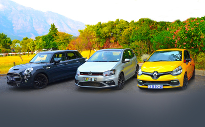 Three 140 kW five door hatches. Sounds like fun!  Image - Michele Lupini