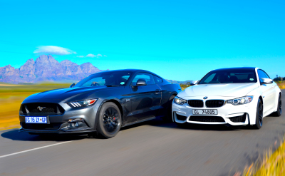 BMW M4 Coupé vs Ford Mustang 5.0 GT Fastback. Image - Michele lupini