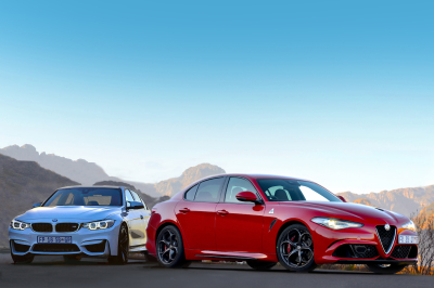 Alfa Romeo Giulia QV vs BMW M3. Image - Michele Lupini
