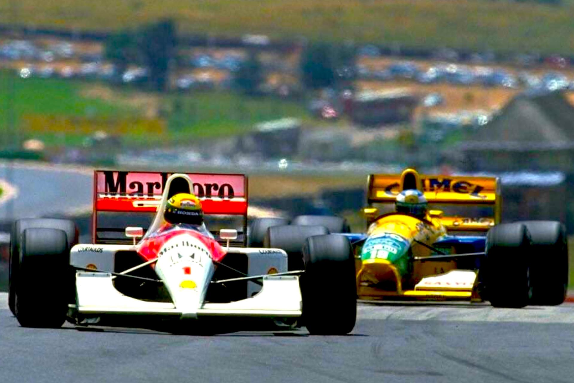Senna & Schumacher at Kyalami