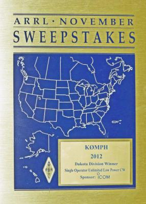 Sweepstakes category winner - 2012
