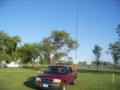 K0MPH mobile in North Dakota for Field Day 2008