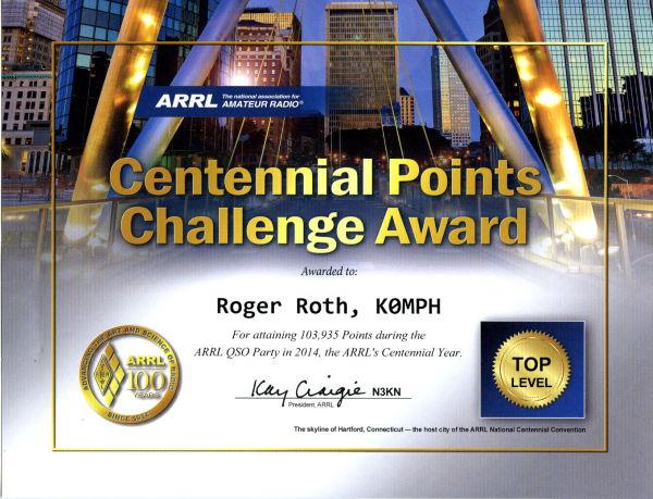 K0MPH - Rank 35 - 103,871 points - 7305 QSOs. Lots of fun!