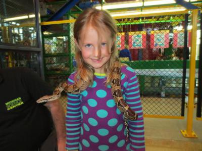 Granddaughter Adria meets a new friend at the Science Museum – 2013