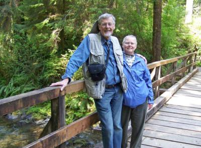 Roger and Dianne in Olympic National Park – 2012