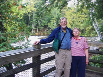 Roger and Dianne in the Upper Peninsula of Michigan – 2011