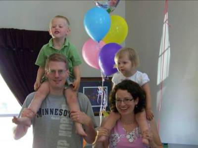 Son Randy and Tara with James and Adria – 2009