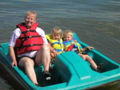 Grandma gives a paddle boat ride – 2009