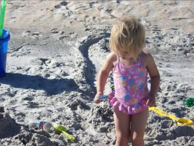 Adria on a North Carolina Beach – 2009
