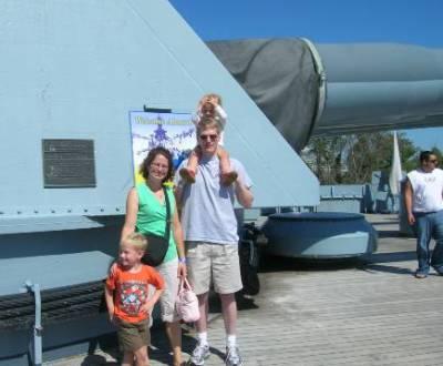 On the battleship, North Carolina – 2009