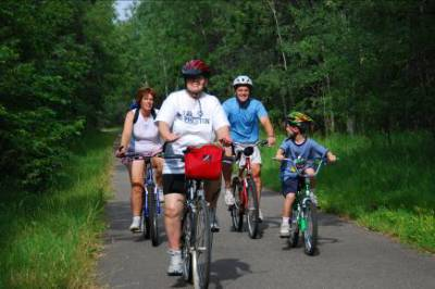 Biking Northern Minnesota – 2008 (Dianne in Front)