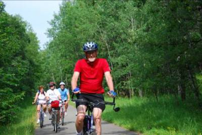 Biking Northern Minnesota – 2008 (Roger in Front)