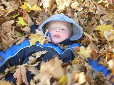 James in the leaves – Fall 2008