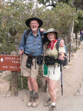 Roger and Betty hike the Grand Canyon – 2006