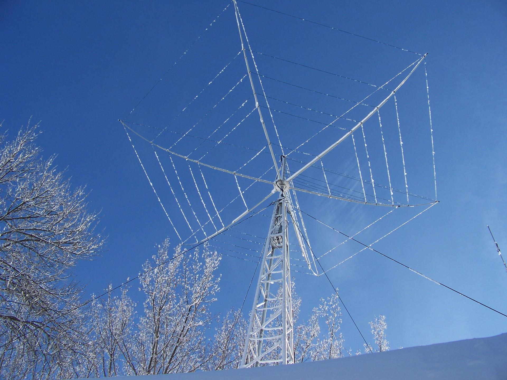 Ice on the beam