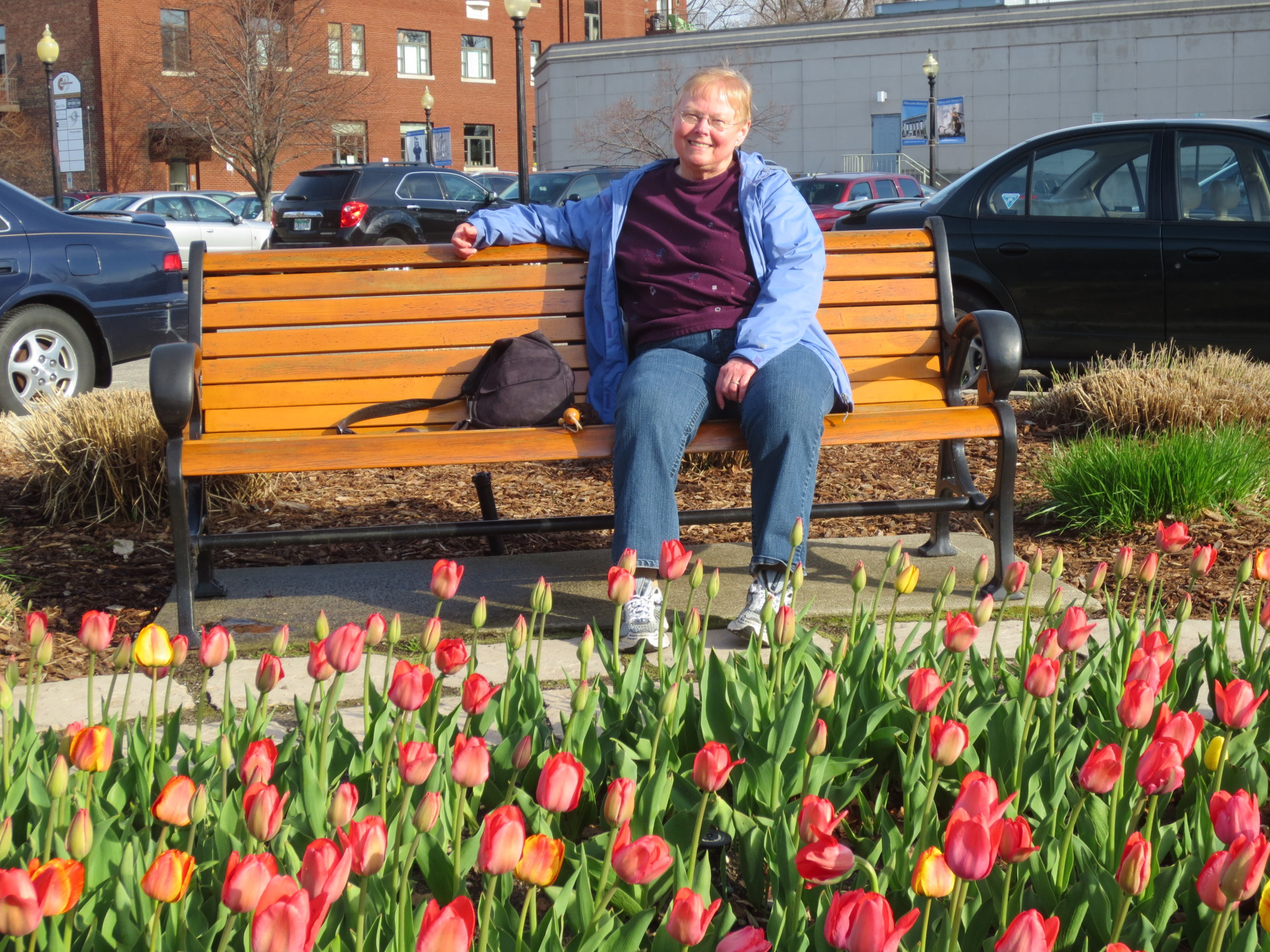 Dianne at Holland Mich at the tulip festival - 2014
