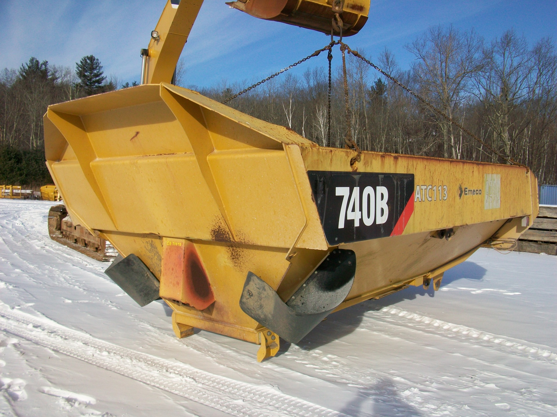 CAT 740B dump body, $8,000