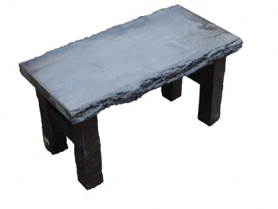 Furniture Custom coffee table rustic style. Can see the split walnut tree bark. Custom made Furniture.