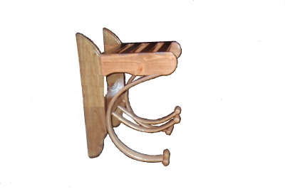 Custom Hat and coat rack that is perfect for any entryway. Custom made to fit any need. Custom Made Furniture.