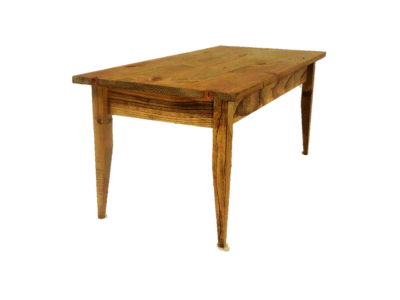 Origin of tapered leg mission coffee table