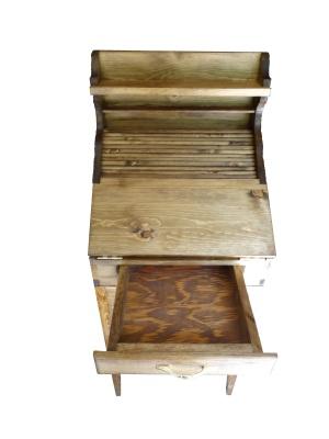 custom rolltop desk drawer open