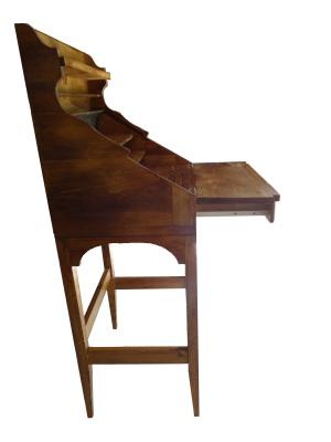 custom rolltop desk side view