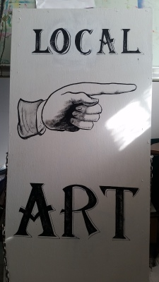 Sign for the Douglas Artists Guild.