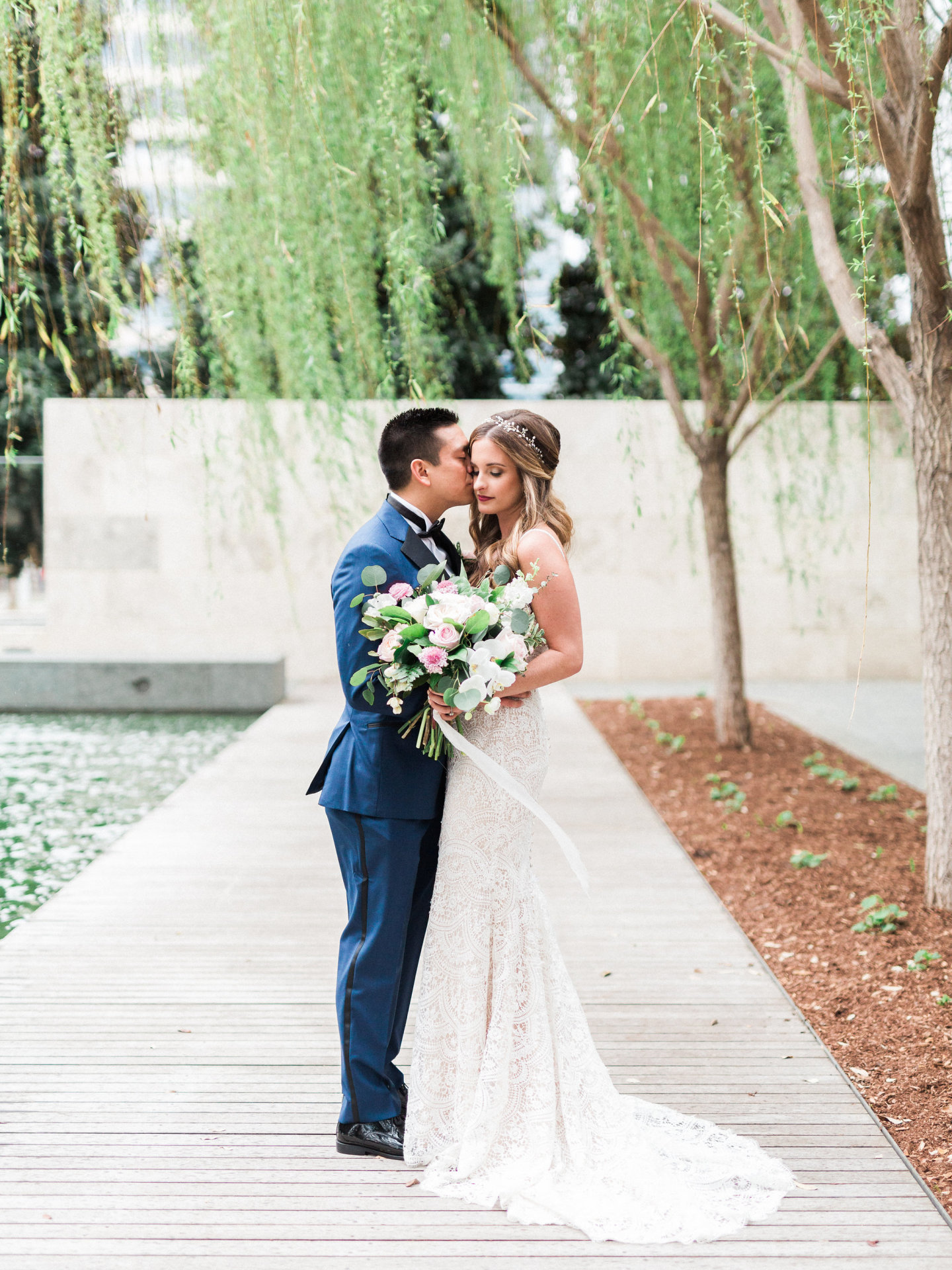 Leland and JD- Nasher Sculpture Museum Wedding
