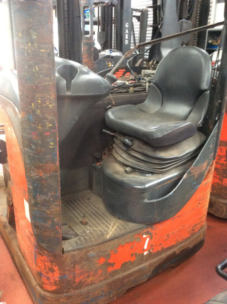 This R16 reach truck had been working in the warehouse