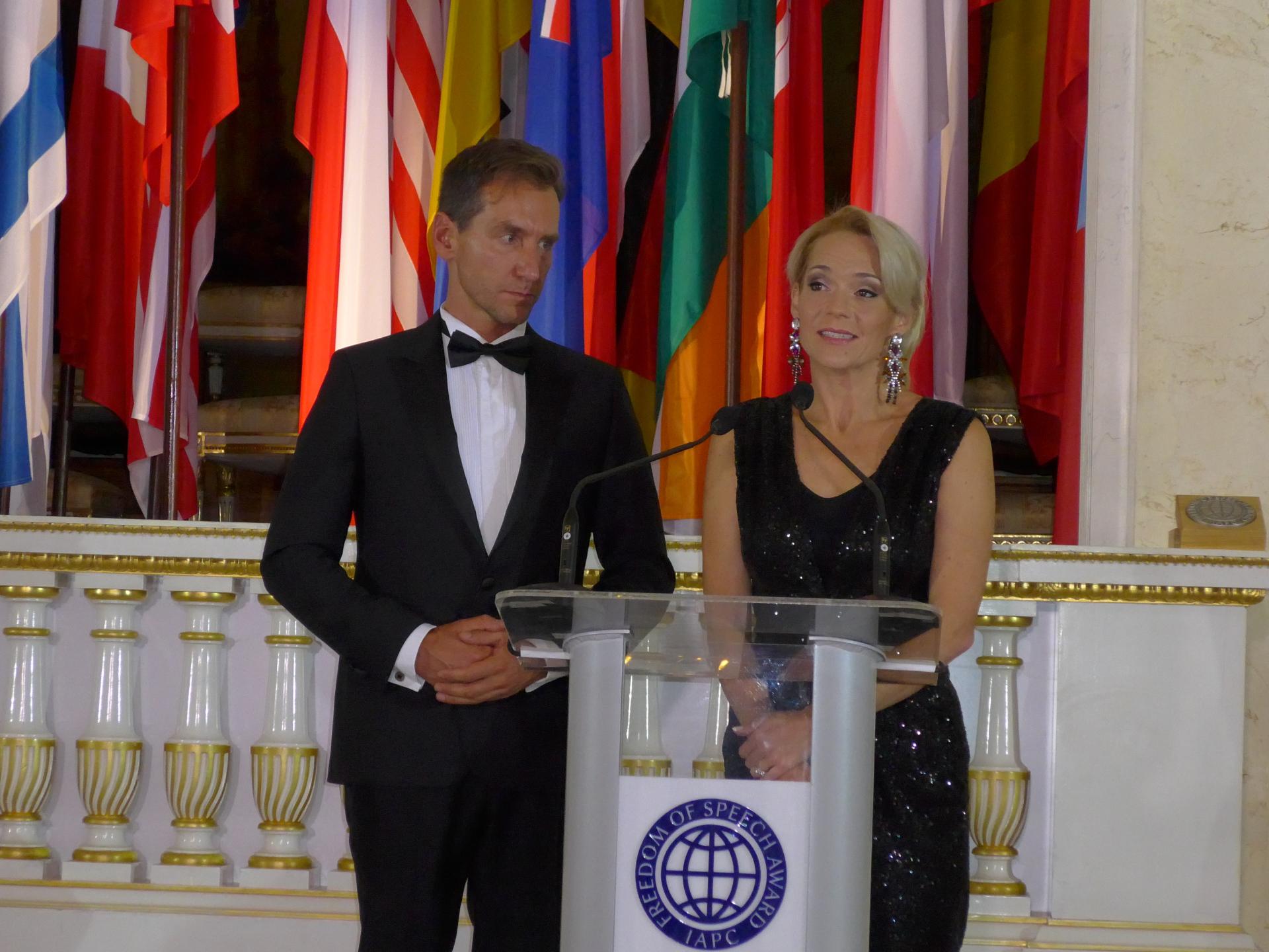 Hosting the IAPC's Freedom of Speech Award, October 2015.