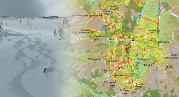 BACKCOUNTRY SKI MAP - BOULDER HUT ADVENTURES