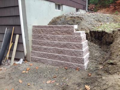 RETAINING WALL - CURRENTLY IN PROGRESS