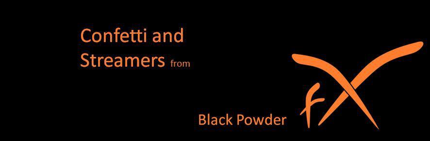 streamer and confetti from Black Powder FX