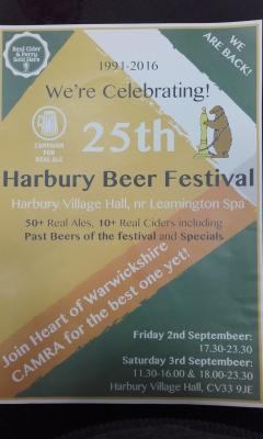 Harbury Beer Festival in its 25th Year