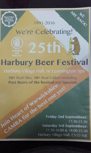Harbury Beer Festival in its 25th Year