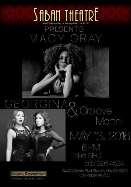 GrooveMartini opens for Macy Gray