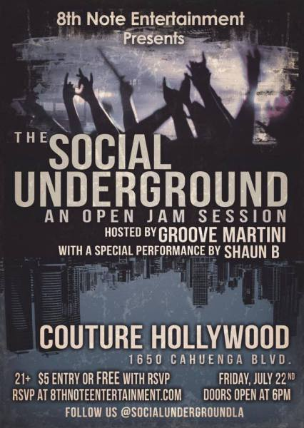 GrooveMartini Hosts the Social Underground