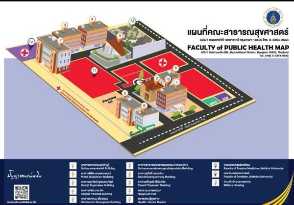 สำนักงานใหม่ อาคาร 7 ชั้น 3 คณะสาธารณสุขศาสตร์ มหาวิทยาลัย มหิดล (ราชวิถึ)