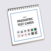 Paediatric test cards for visual acuity of young children