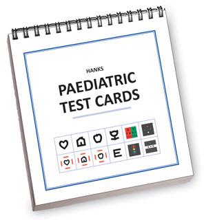 Eye test flash cards