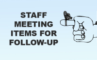 Optometrist Staff Meeting Items for Follow Up