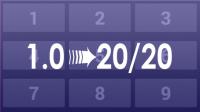 Convert VA decimal to 20/20