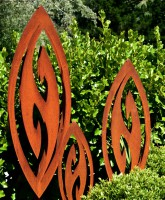 rusty metal garden sculptures