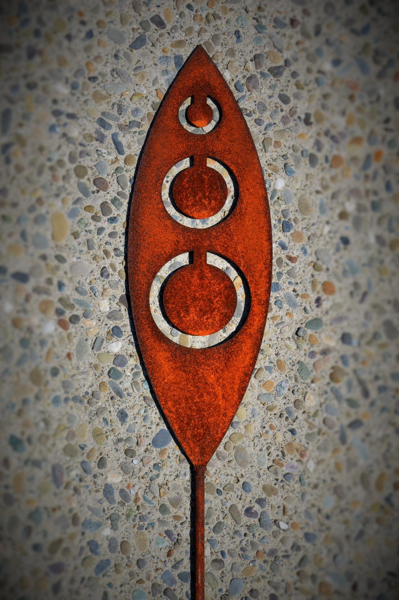 rusty tribal art