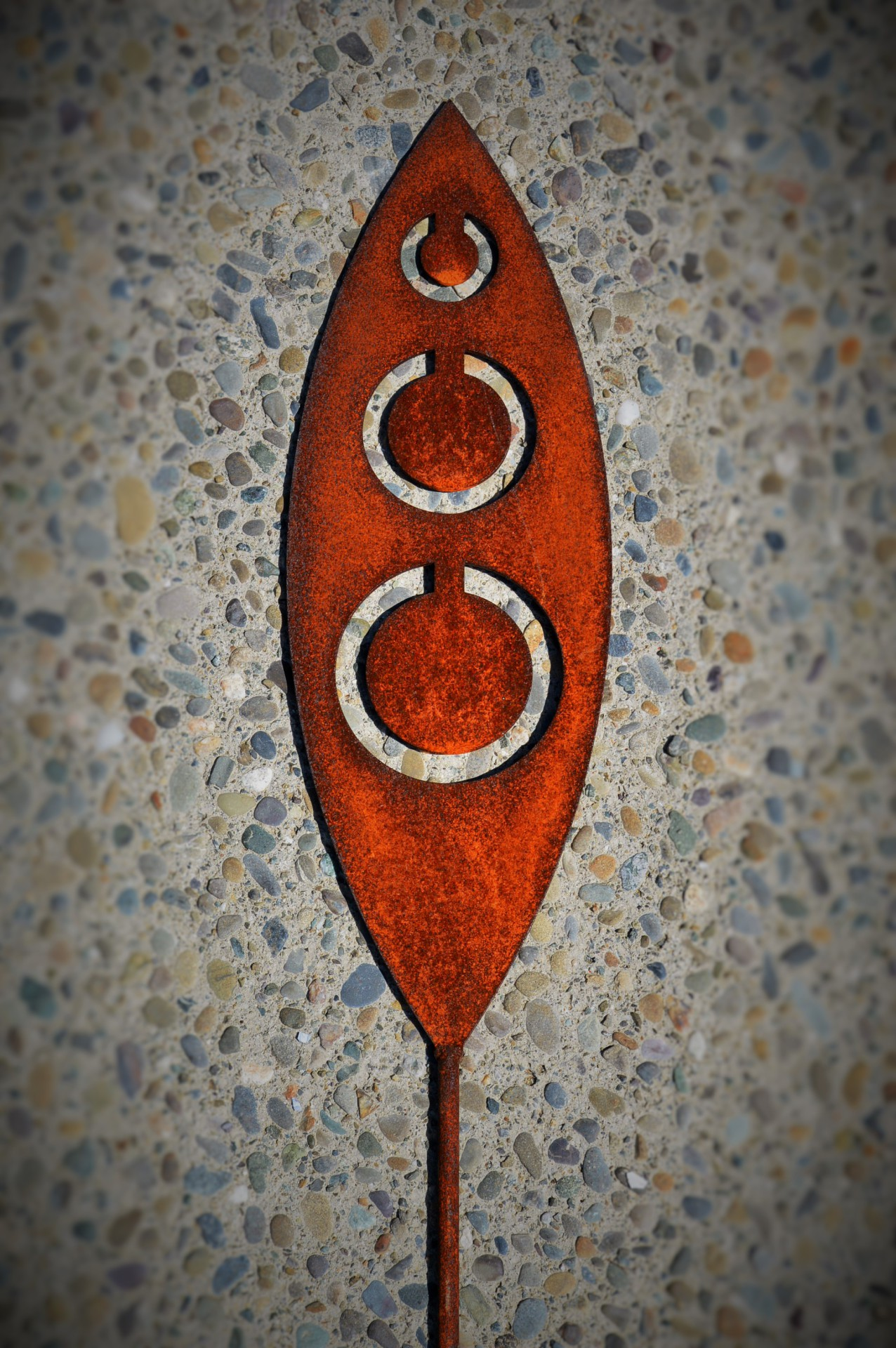 rusty tribal art