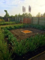 formal garden corten art