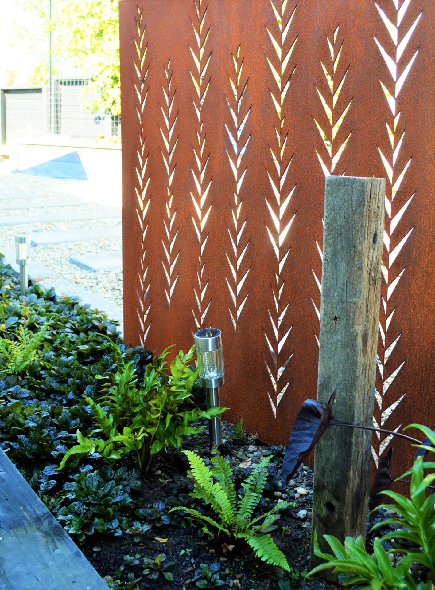 corten garden screen