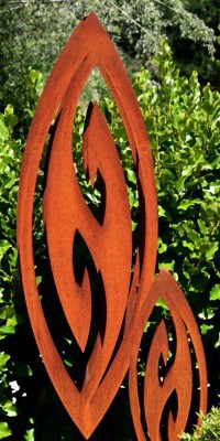 corten large sculpture