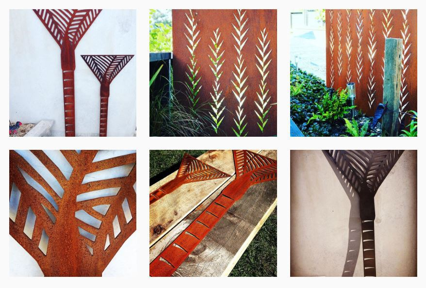 nikau nz corten art