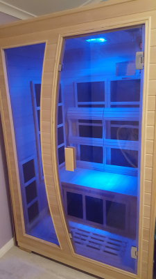 Infra red sauna with Blue Chakra LED lighting